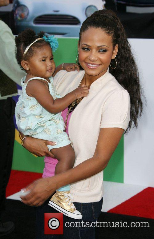 Christina Milian and her daughter The Los Angeles...