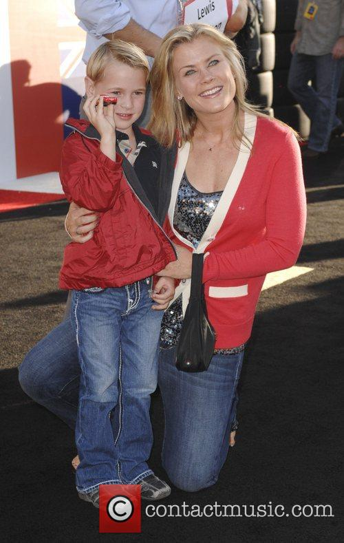 Alison Sweeney and her son Benjamin Edward Sanov...