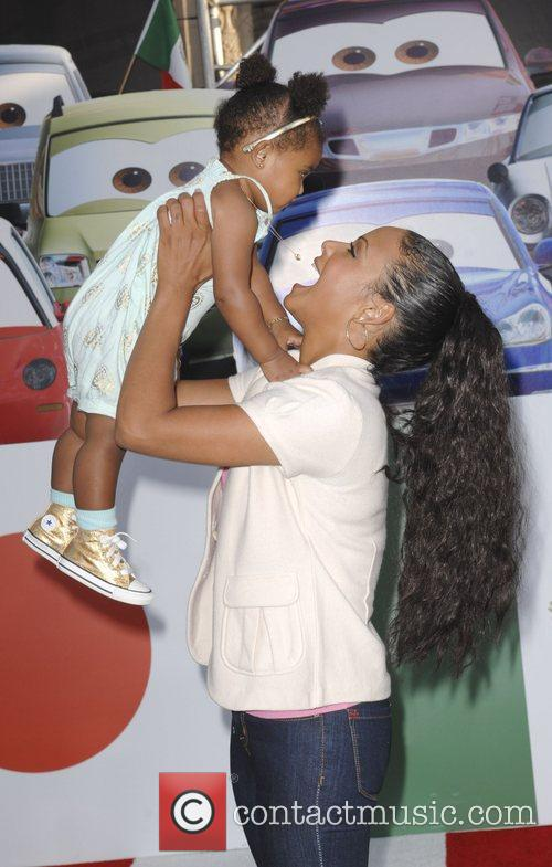 Christina Milian and her daughter Violet The Los...