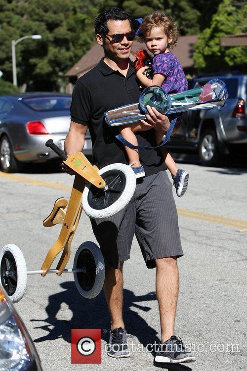 Cash Warren brings his daughter Honor Marie to...