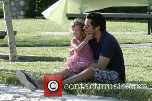 Enjoys some quality time with his daughter Honor...