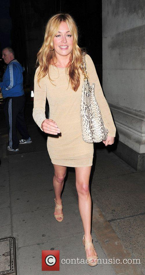 Cat Deeley leaving Selfridges in a short clingy...