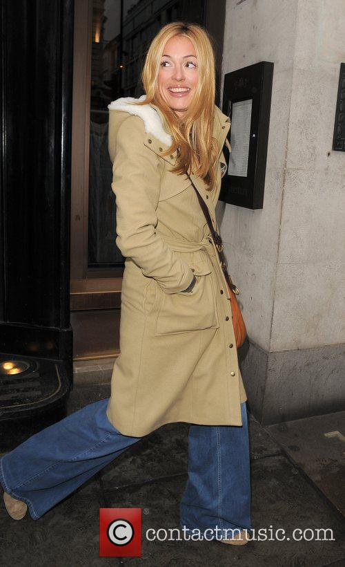 Cat Deeley leaving The Wolseley restaurant, having had...