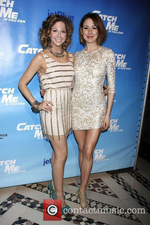Cast members Opening night after party for the...