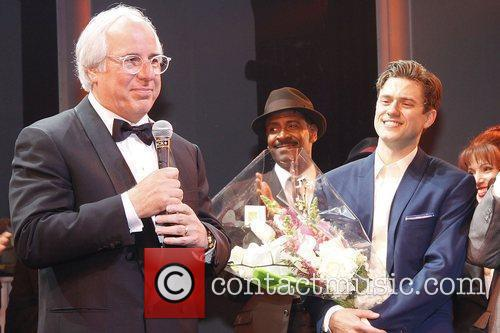 Frank Abagnale, Jr. and Aaron Tveit Opening night...