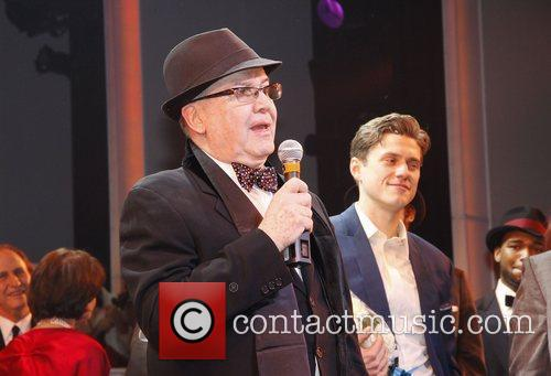 Jack O'Brien and Aaron Tveit Opening night of...