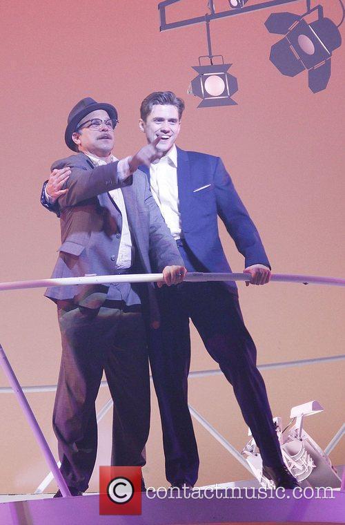 Norbert Leo Butz and Aaron Tveit Opening night...