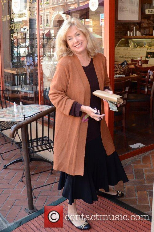 Catherine Hicks in good spirits while out and...