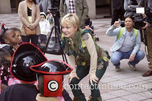 cathy rigby in costume as peter pan 3574084