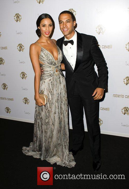 Marvin Humes and Rochelle Wiseman of The Saturdays...