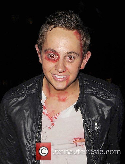 George Lineker leaves a Halloween party, held in...
