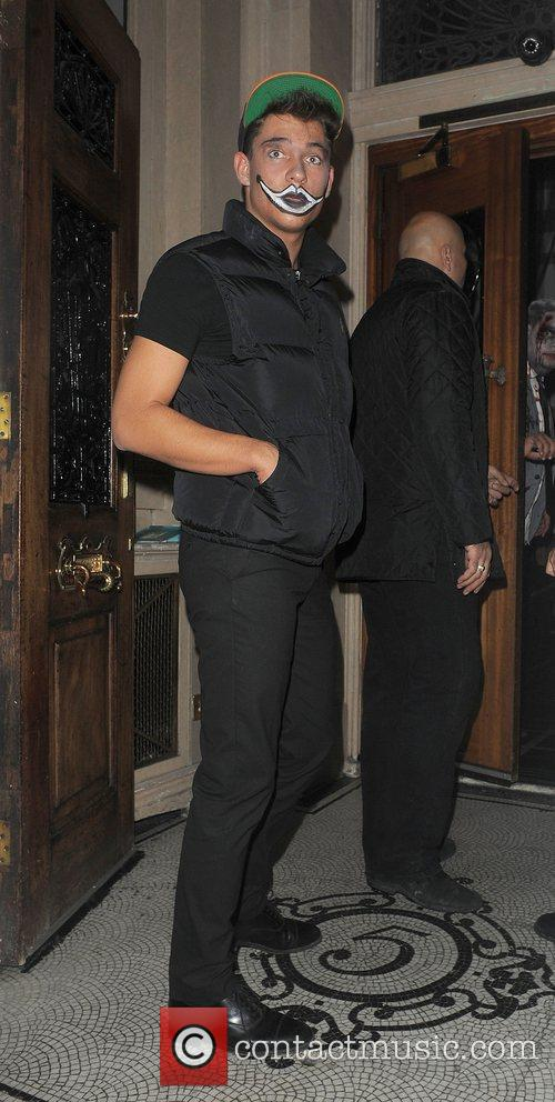 Joey Essex arriving at a Halloween party, held...