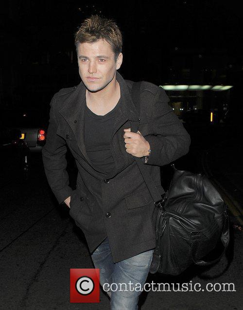 mark wright arrives at a halloween party 3584638