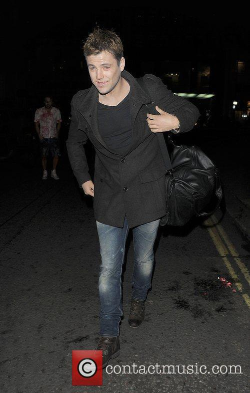 mark wright arrives at a halloween party 3584651
