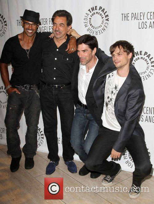 Shemar Moore, Joe Mantegna, Matthew Gray Gubler and Thomas Gibson 8