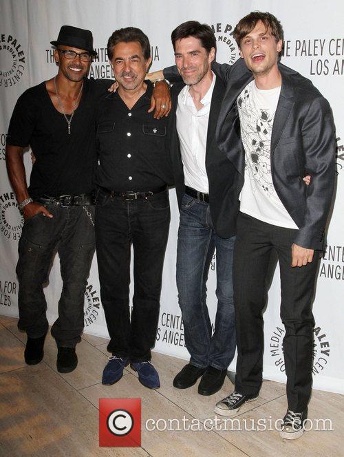 Shemar Moore, Joe Mantegna, Matthew Gray Gubler and Thomas Gibson 5