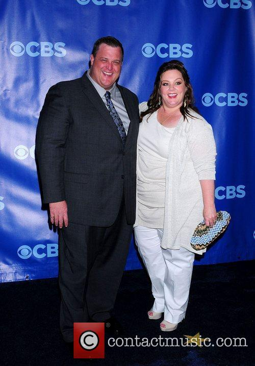 Billy Gardell and Melissa McCarthy 2011 CBS Upfront...