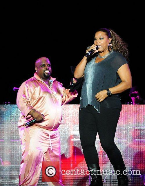 Cee Lo Green and Queen Latifah performing live...