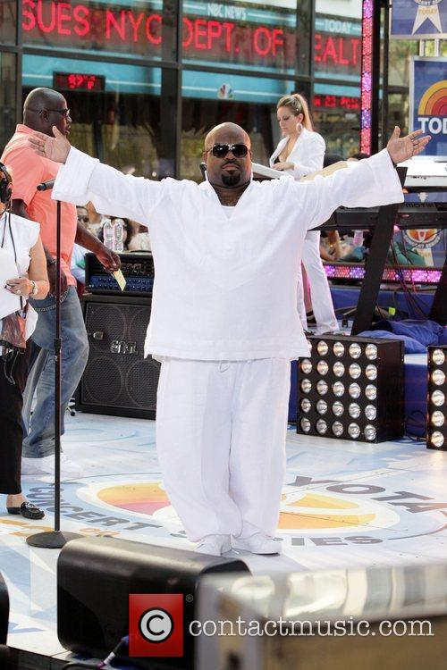 Cee Lo Green performing live at Rockefeller Center...