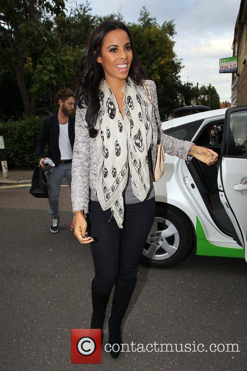 The Saturdays - arrives for the filming of the ITV2 show ...