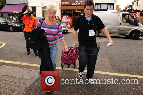 Denise Welch Celebrities arrive for the filming of...