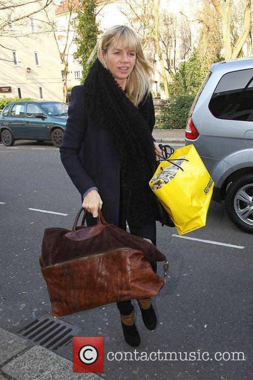 Zoe Ball arrives for the filming of the...