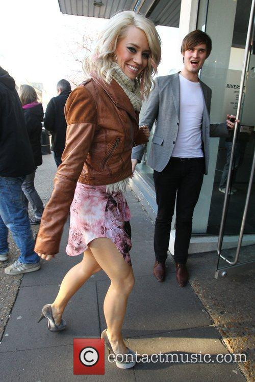 Kimberly Wyatt arrives for the filming of the...