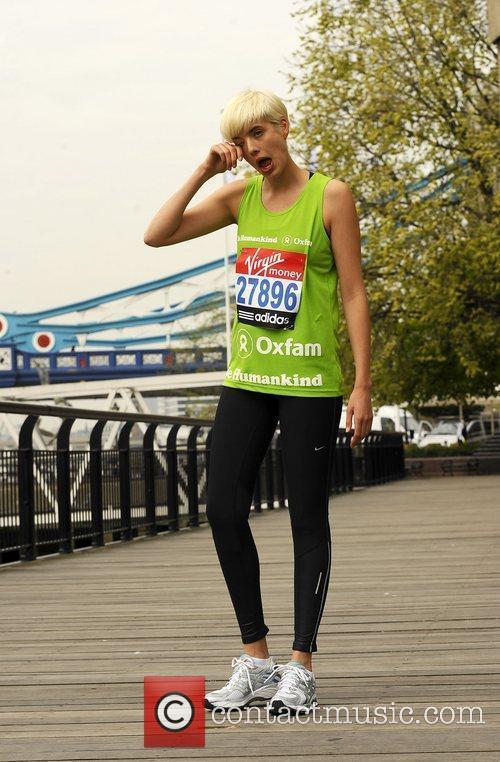 Agyness Deyn Celebrity runners for the London Marathon...