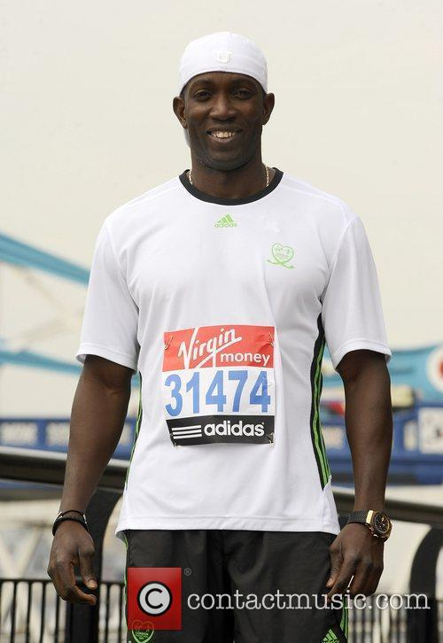 Dwight York Celebrity runners for the London Marathon...