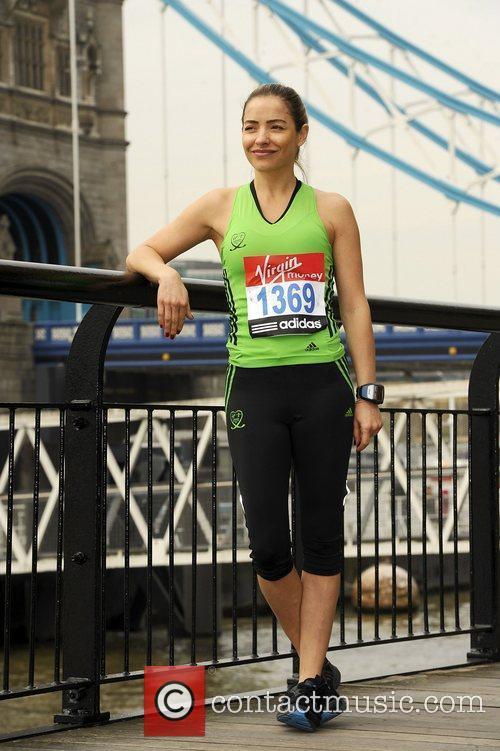 Elen Rivas Celebrity runners for the London Marathon...