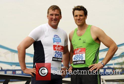 Celebrity runners for the London Marathon - Photocall