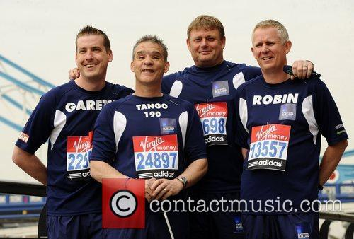 PC David Rathband (CL) Celebrity runners for the...