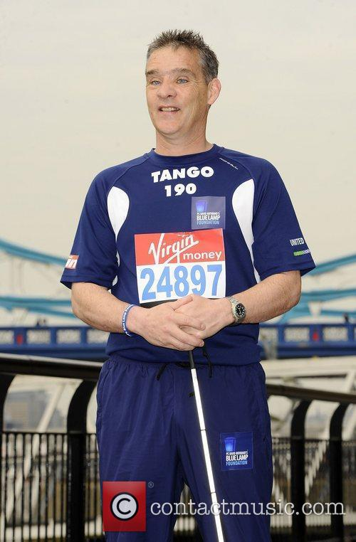 PC David Rathband Celebrity runners for the London...
