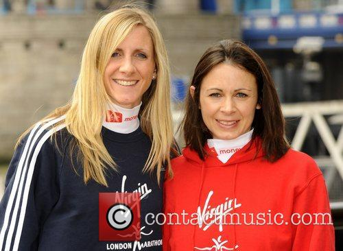 Liz Yelling and Jo Pavey Celebrity runners attend...
