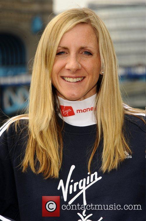 Liz Yelling Celebrity runners attend the 'British Elite...