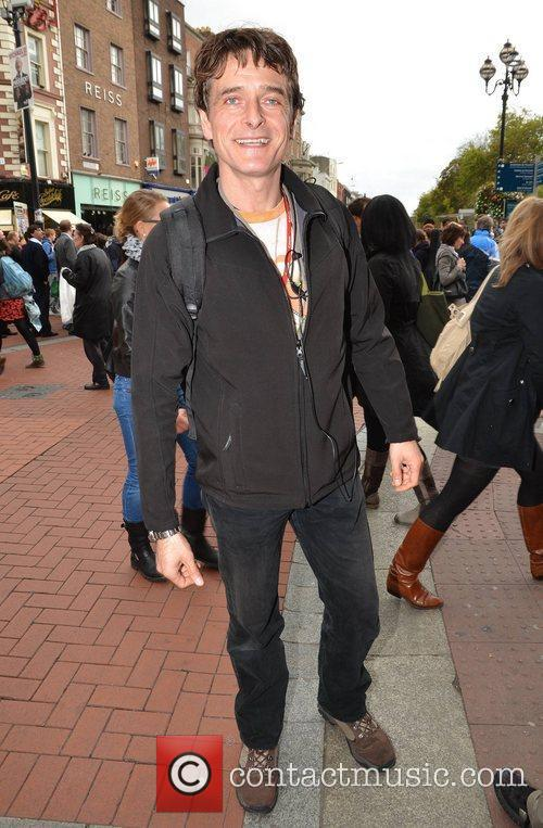 Joe McKinney out and about on Grafton Street...