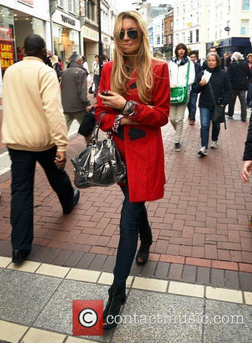 Miss World 2003 Rosanna Davison out and about...