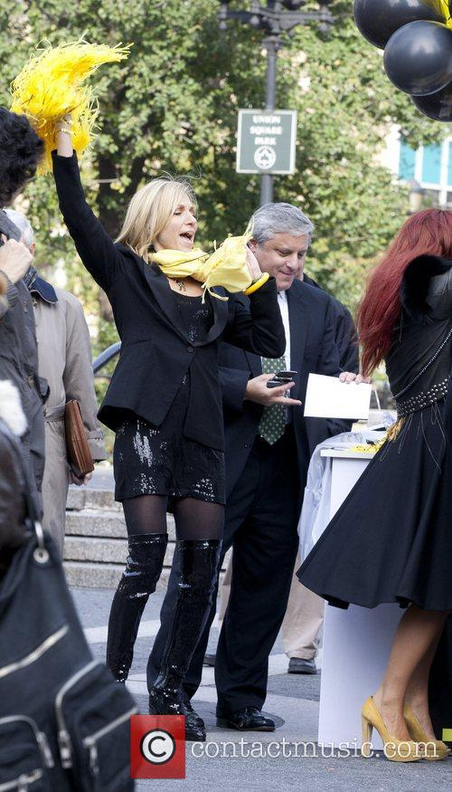 On the set of 'Celebrity Apprentice' shooting in...