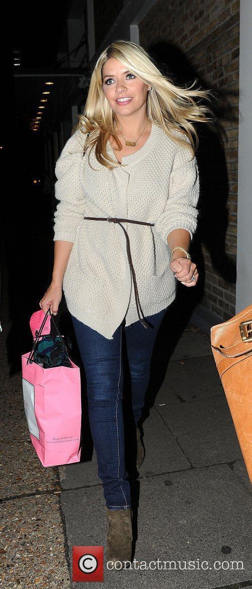 Holly Willoughby leaving the Riverside studios, having filmed...