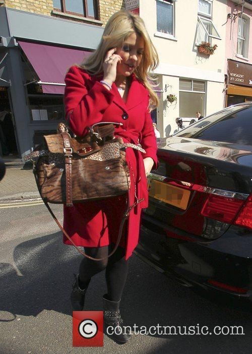 Holly Willoughby Celebrities arriving at the studio to...