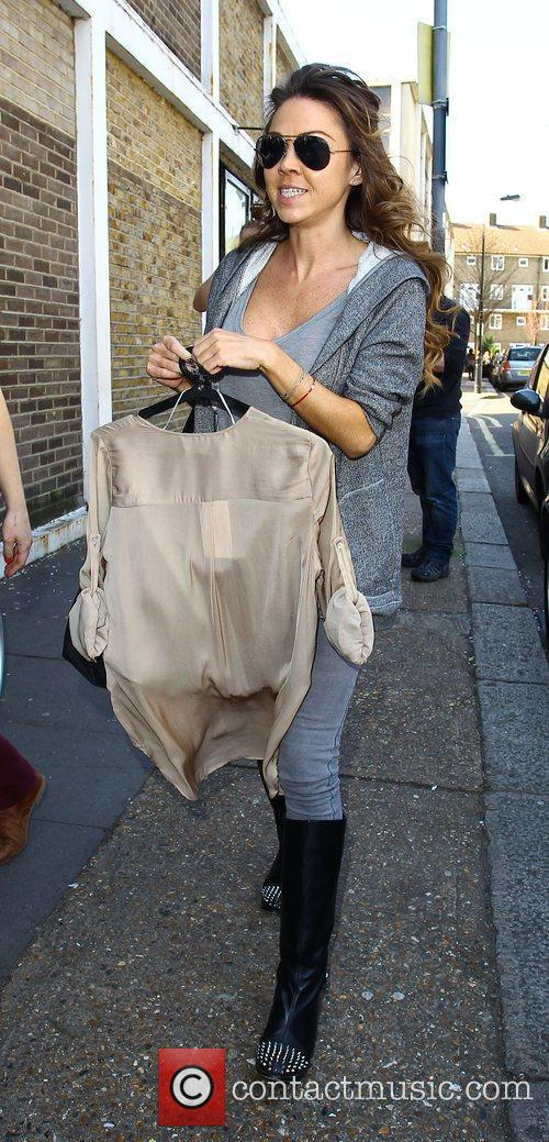 Adele Silva Celebrities arriving at the studio to...