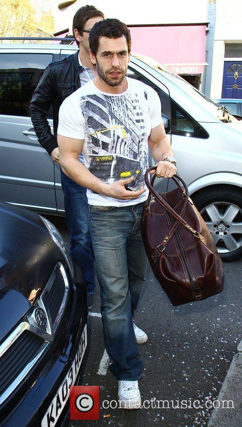 Kelvin Fletcher Celebrities arriving at the studio to...
