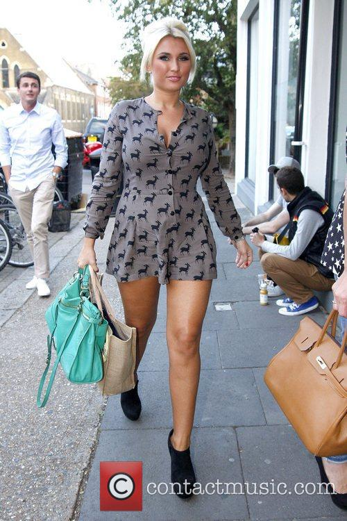 Billie Faiers arrives for the filming of the...