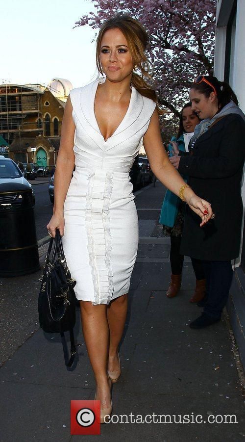 Kimberley Walsh Celebrities arriving at the studio to...