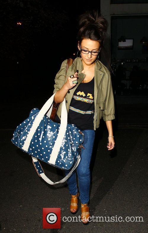 Michelle Keegan Celebrities leaving the studio after filming...