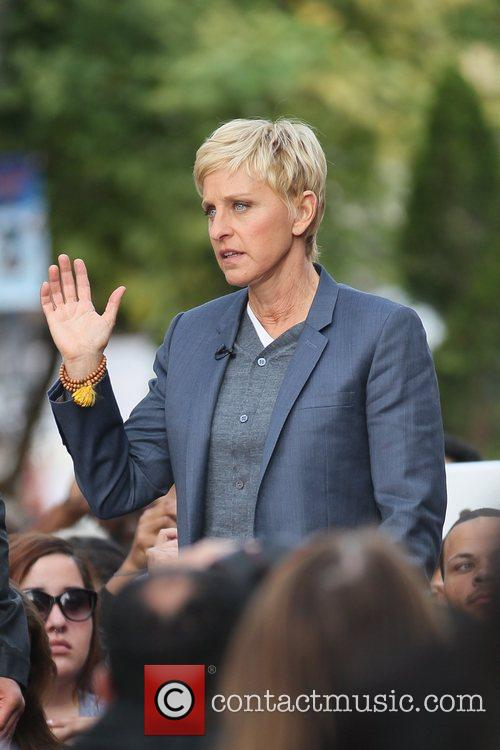 Ellen DeGeneres at The Grove to film an...