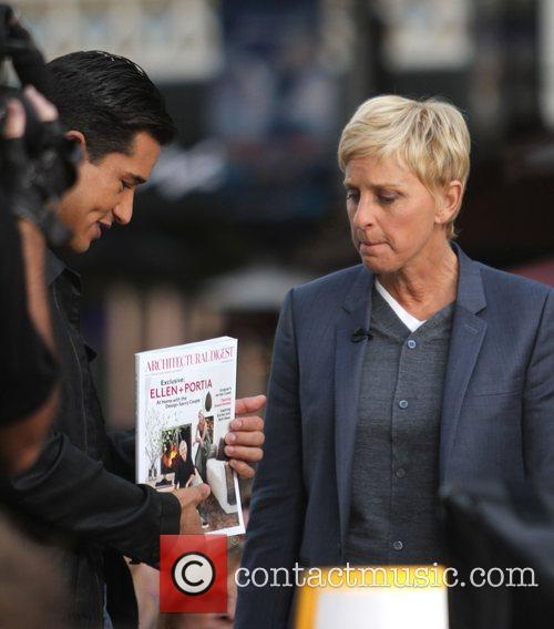 Ellen DeGeneres, with host Mario Lopez, at The...