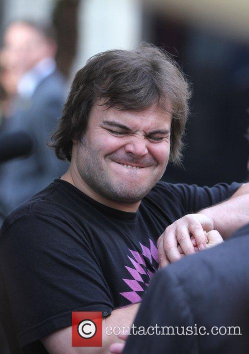 Jack Black at The Grove to film an...