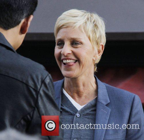Ellen DeGeneres  at The Grove to film...