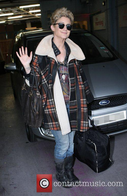Katie Waissel at the ITV studios London, England
